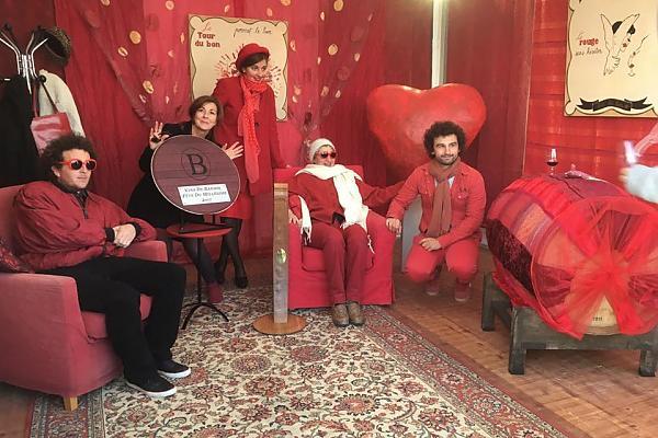 décor stand fête du millésime 2017 domaine de la tour du bon