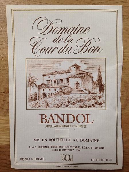 étiquette Domaine de la Tour du Bon 1990