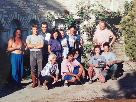 photo de l'équipe de vendangeurs en 1991