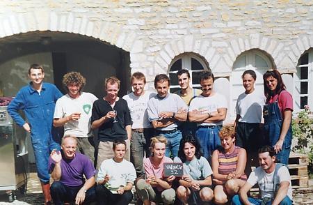 photo de l'équipe de vendangeurs en 1992