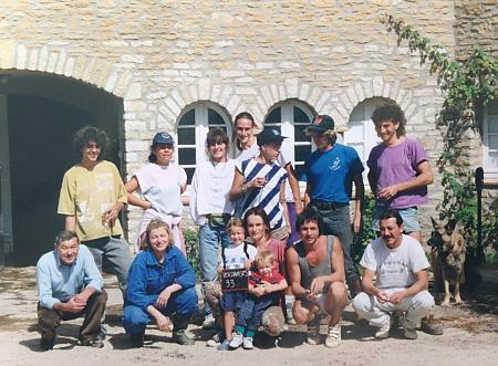 photo de l'équipe de vendangeurs en 1993