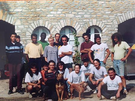 photo de l'équipe de vendangeurs en 1994