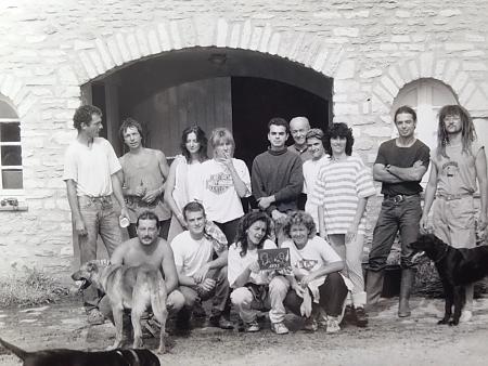 photo de l'équipe de vendangeurs en 1995