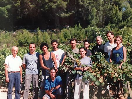 photo de l'équipe de vendangeurs en 1997