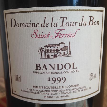 Etiquette de Saint Ferréol 1999