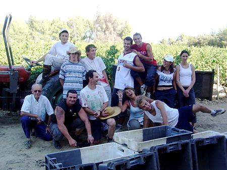 photo de l'équipe de vendangeurs en 2007