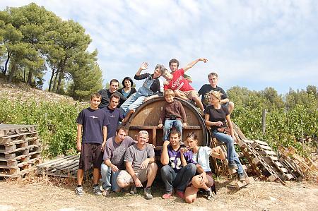 photo de l'équipe de vendangeurs en 2008