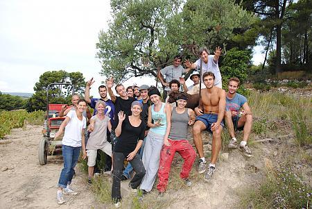 photo de l'équipe de vendangeurs en 2010
