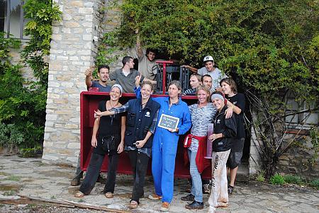 photo de l'équipe de vendangeurs en 2012