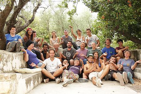 photo de l'équipe de vendangeurs en 2015